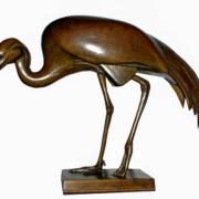 Ausstellung 2015: Jungfernkranich, Bronze Wilhelm Krieger